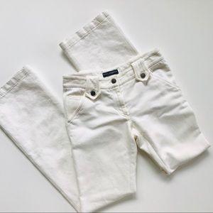 Dolce & Gabana White Flared-Leg Women's Slacks.